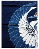 紺仁 筒描きタペストリーkt30