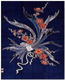紺仁 筒描きタペストリーkt50